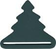 "BPT Mill Hill Bellpull Christmas Tree Wood; 4-3/4"" opening"