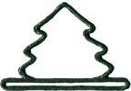 """MHMMT2 Mill Hill Bellpull Green Mini Tree Metal; 3-1/4"""" opening  2.5"""" h"""
