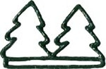 """MHMT Mill Hill Green Trees Metal; 4-1/2"""" opening  3.5"""" h"""