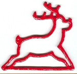 """MHMR Mill Hill Red Reindeer Metal; 4-1/2"""" opening  5"""" h"""