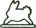 "MHMB Mill Hill Green Bunny Metal; 4-1/2"" opening  4.5"" h"