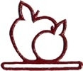 """MHMA Mill Hill Red Apple Metal; 4-1/2"""" opening  4.25"""" h"""