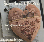 16-1362 Sweetheart Pocket (Tender Heart Series) Top: 56w x 20h, Bottom: 53w x 44h Blackbird Designs