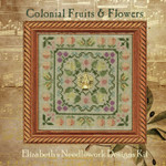Colonial Fruits & Flowers (includes threads & charms) 75w x 75h Elizabeth's Designs