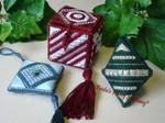 Freda's Fancy Stitching Little Gift Box Ornament, A 170w x 100h