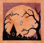Halloween Moon with 3 charms 80 x 81 Handblessings