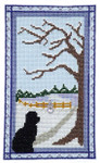 Puppy At The Door Winter With one charm 64 x 111 Handblessings