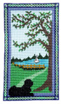 Puppy At The Door Summer With one charm 64 x 111 Handblessings