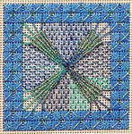 Jennie's Star Needlepoint 2 ¾ x 2 ¾ Ort Box included Handblessings