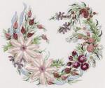 1038 Utopia Wreath Cream Fabric Kit EdMar Brazilian Dimensional Embroidery
