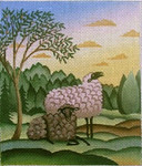DP-AN13 Two Morning Sheep 5x6 Diane Ulmer Pedersen
