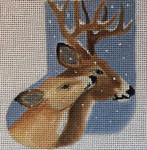 CH167 Deer Mini-Sock 4.5 x 3.5  Nenah Stone Designs 18 Mesh