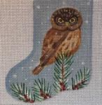 CH171 Owl Mini-Sock 4.5 x 3.5  Nenah Stone Designs 18 Mesh