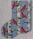 CH174 Birch Cardinals 4.5 x 3.5  Nenah Stone Designs 18 Mesh