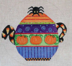 HW182 Halloween Teapot 6 x 6 Nenah Stone Designs 18 Mesh