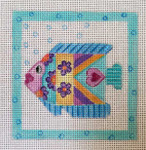 SS235 Talevera Fish 4 x 4 Nenah Stone Designs 18 Mesh