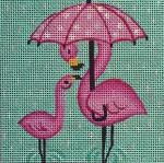 SS238 Umbrella Flamingo 4 x 4 Nenah Stone Designs 18 Mesh
