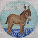 "SS239 Bluebonnet Donkey 5"" Round Nenah Stone Designs 18 Mesh"