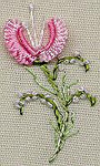 1222 Peach Blossom Kit 7X7 EdMar Brazilian Dimensional Embroidery