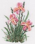 1423 Irises Kit Fabric Size:  8X10 EdMar Brazilian Dimensional Embroidery