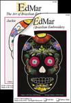 1301 Jackie - Flower Skull 12X12  Black Kit EdMar Brazilian Dimensional Embroidery