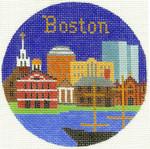 424 Boston Ornament 4.25 RD. 18 Mesh Silver Needle Designs