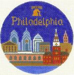 443 Philadelphia Ornament 4.25 RD. 18 Mesh Silver Needle Designs
