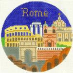 445 Rome Ornament  4.25 RD. 18 Mesh Silver Needle Designs
