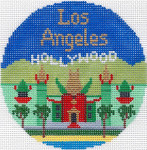 461 Los Angeles Ornament  4.25 RD. 18 Mesh Silver Needle Designs