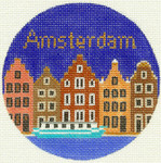 462 Amsterdam Ornament 4.25 RD. 18 Mesh Silver Needle Designs