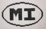 754 MI (Marco Ialsnd, FL/Mackinac Island, MI) Oval Ornament 5 x 3 13 Mesh Silver Needle Designs