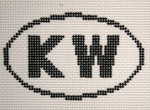 755 KW (Key West, FL)  Oval Ornament Oval Ornament 5 x 3 13 Mesh Silver Needle Designs