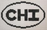 756 CHI (Chicago, IL) Oval Ornament 5 x 3 13 Mesh Silver Needle Designs