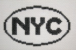 758 NYC (New York City) Oval Ornament 5 x 3 13 Mesh Silver Needle Designs
