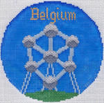 760 Belgium Ornament 4.25 round 18 Mesh Silver Needle Designs