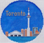 763 Toronto Ornament 4.25 round18 Mesh Silver Needle Designs