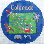 766 Colorado Ornament 4.25 round18 Mesh Silver Needle Designs