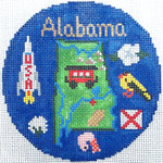 768 Alabama Ornament 4.25 round18 Mesh Silver Needle Designs