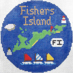 777 Fishers Island Ornament 4.25 round18 Mesh Silver Needle Designs