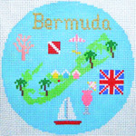 778 Bermuda Ornament 4.25 round18 Mesh Silver Needle Designs