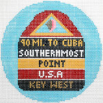 779 Key West Ornament 4.25 round18 Mesh Silver Needle Designs