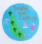 782 Sanibel & Captiva Ornament 4.25 round18 Mesh Silver Needle Designs