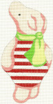178 Piglet Winne the Pooh Ornament 3 x 6.5 Mesh size: 18 Silver Needle Designs