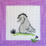 190 Eeyore & Thistle Winnie The Pooh and Balloons Pillow 10 x 10 13 Count Silver Needle Designs