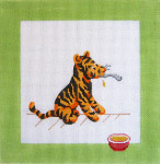 191 Tigger & Bowl Winnie The Pooh and Balloons Pillow 10 x 10 13 Count Silver Needle Designs
