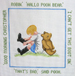 194 Good Morning Winnie The Pooh 12 x 12 13 Count Silver Needle Designs