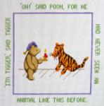 195 I'm Tigger Winnie The Pooh 12 x 12 13 Count Silver Needle Designs