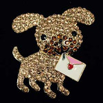 Dog With Letter Needle Minder   Big Buddy The Meredith Collection ( Formerly Elizabeth Turner Collection)