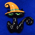 Cat With Hat Needle Minder   Big Buddy The Meredith Collection ( Formerly Elizabeth Turner Collection)