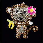 Monkey Needle Minder Big Buddy The Meredith Collection (Formerly Elizabeth Turner Collection)